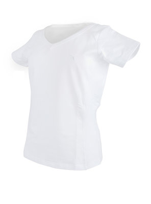 T-Shirt V-Neck Wit